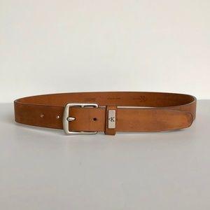 VintageTan Leather Calvin Klein Belt